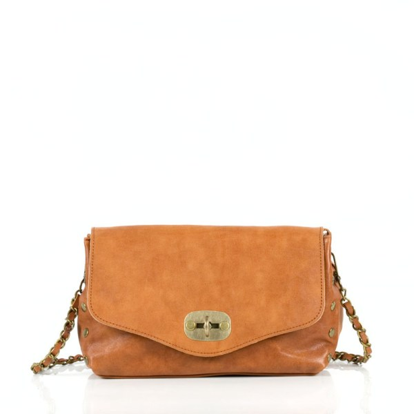 Leather crossbody pouch bag