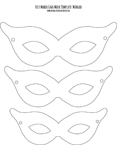 Felt Mardi Gras Masks for Kids {free printable} \u2013 Do Small Things - paper face mask template