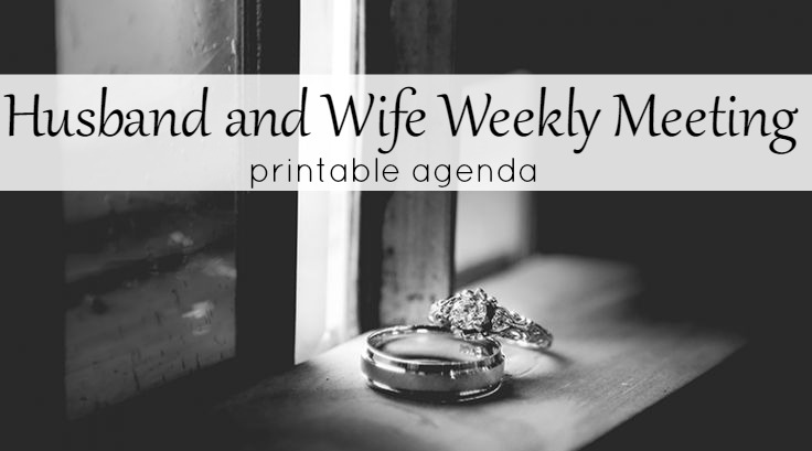 Husband and Wife Meetingu2013Printable Agenda u2013 Do Small Things with Love - what is an agenda
