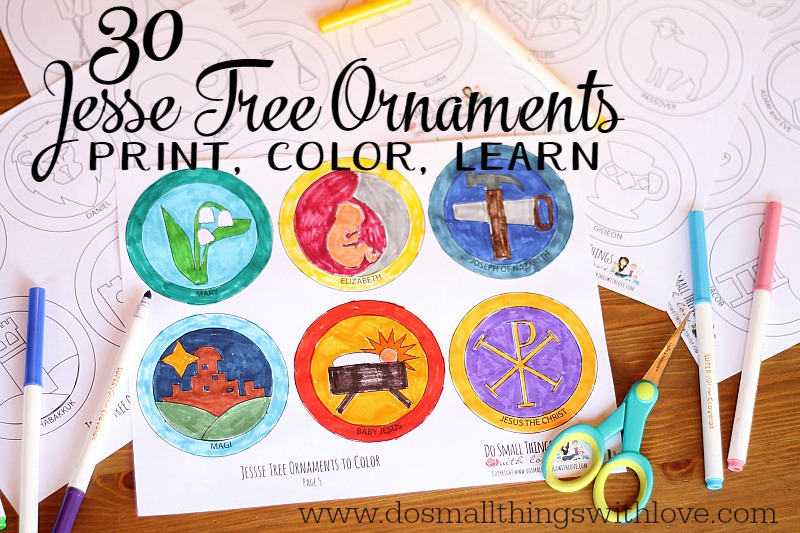Jesse Tree Ornaments to Print and Color \u2013 Do Small Things with Great