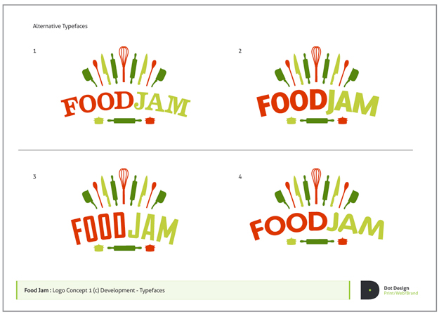 FoodJam Logo Design