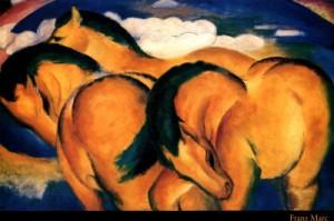 piccoli cavalli gialli - quadro cavallo
