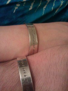 Two Dothraki bracelets.