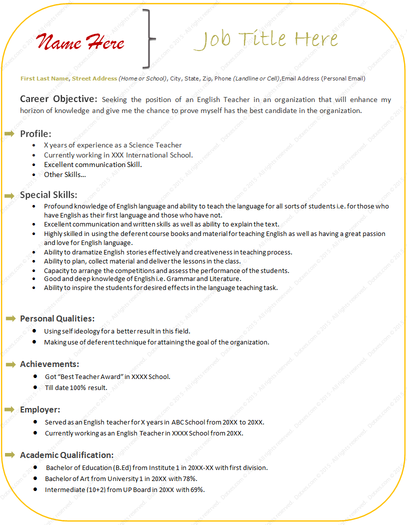 sample resume teacher word format professional resume cover sample resume teacher word format 51 teacher resume templates sample example format sample resume format