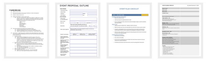 Event Outline Template - 9+ Samples  Examples for PDF Format