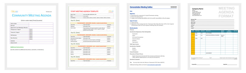 Meeting Outline Template - 13+ Formats, Examples and Samples - meeting outline template