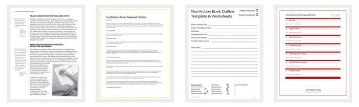 Non-Fiction Book Outline Template - 5+ For Word, PDF Format - Dotxes - book outline template