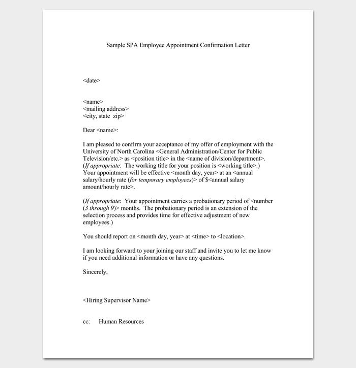 Job Appointment Letter In Word Format To Pdf Simple Letters 100 Examples In  Pdf Word Job