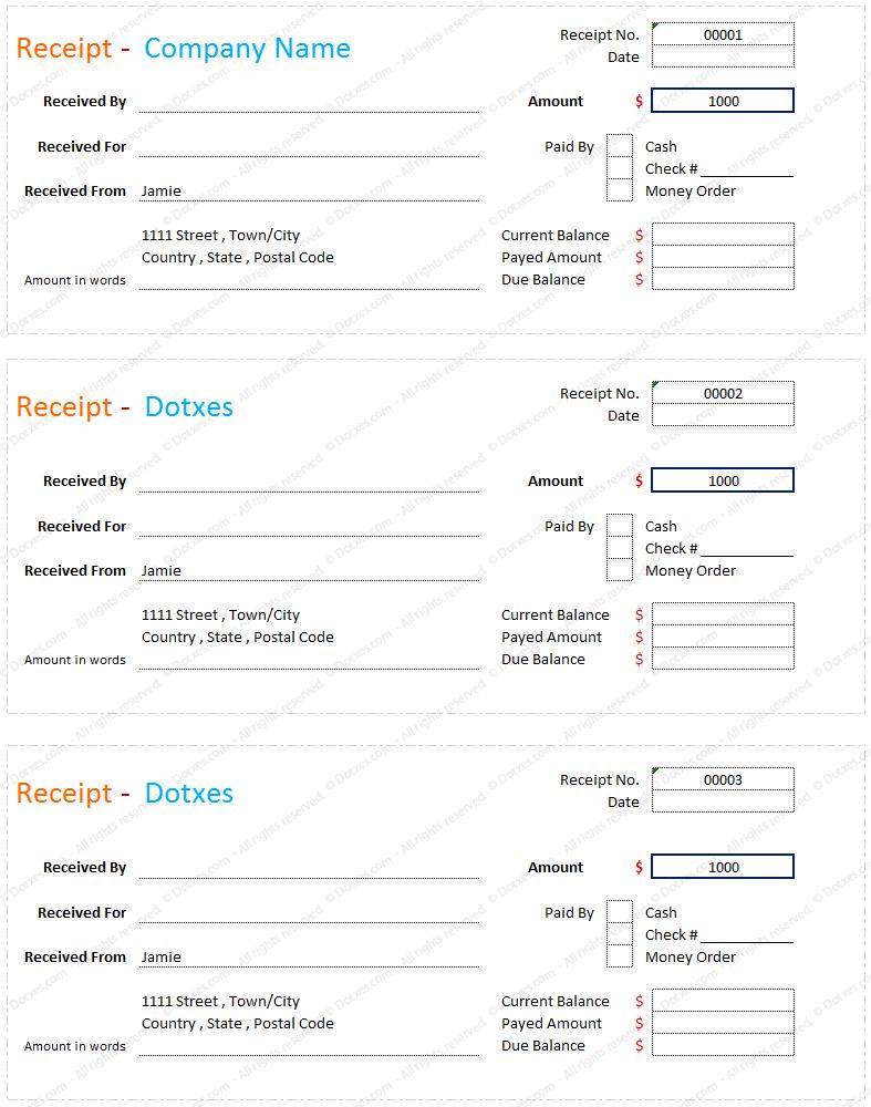 Sample Of Official Receipt wedding guest list printable template – Official Receipt Sample
