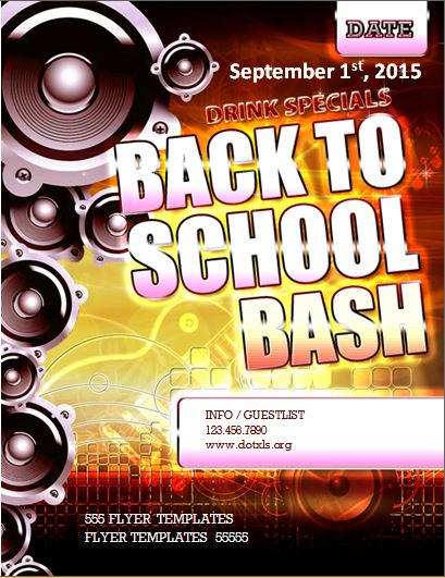 MS word Classy Night Club Event Flyer Template Word  Excel Templates - back to school flyers