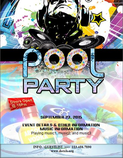 pool party flyer template Word  Excel Templates