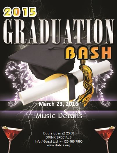 MS Word Graduation Party Flyer Template Word  Excel Templates
