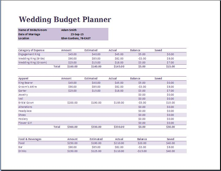 Family Budget Spreadsheet Template Word  Excel Templates