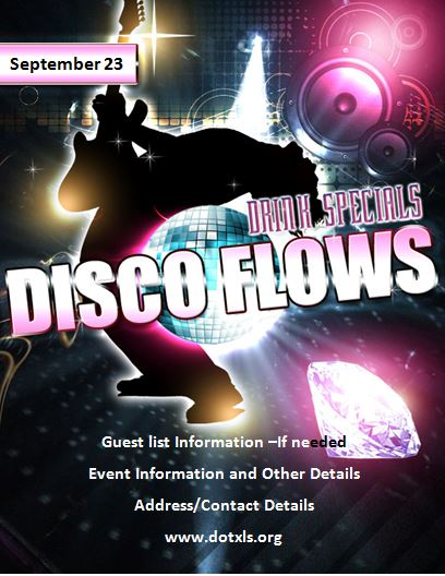 MS Word Disco Party Flyer Template Word  Excel Templates