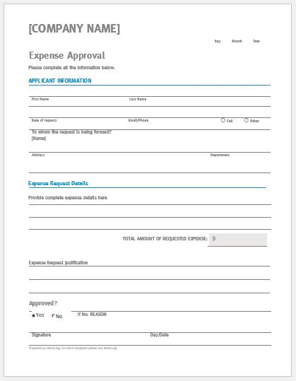 expense approval form template - Solidgraphikworks