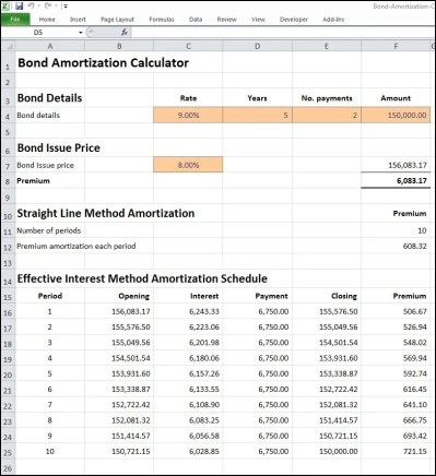 Bond Amortization Calculator | Double Entry Bookkeeping