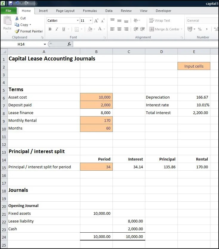 finance lease calculator excel template - Selol-ink