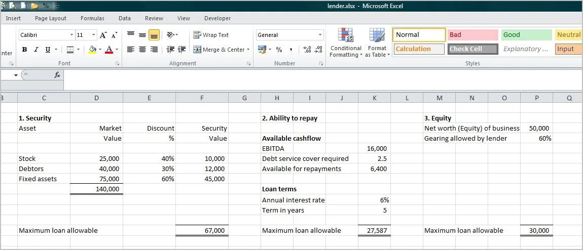 Small Business Loan Calculator Double Entry Bookkeeping