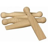 Wooden Door Stop Wedge (pack of 4)