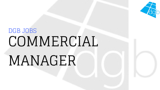 DGB Jobs Commercial Manager - Double Glazing Blogger