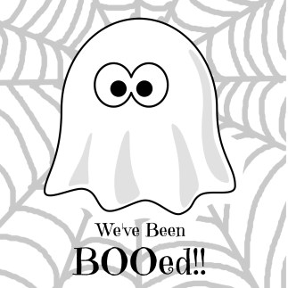 Nerdy image with we ve been booed printable