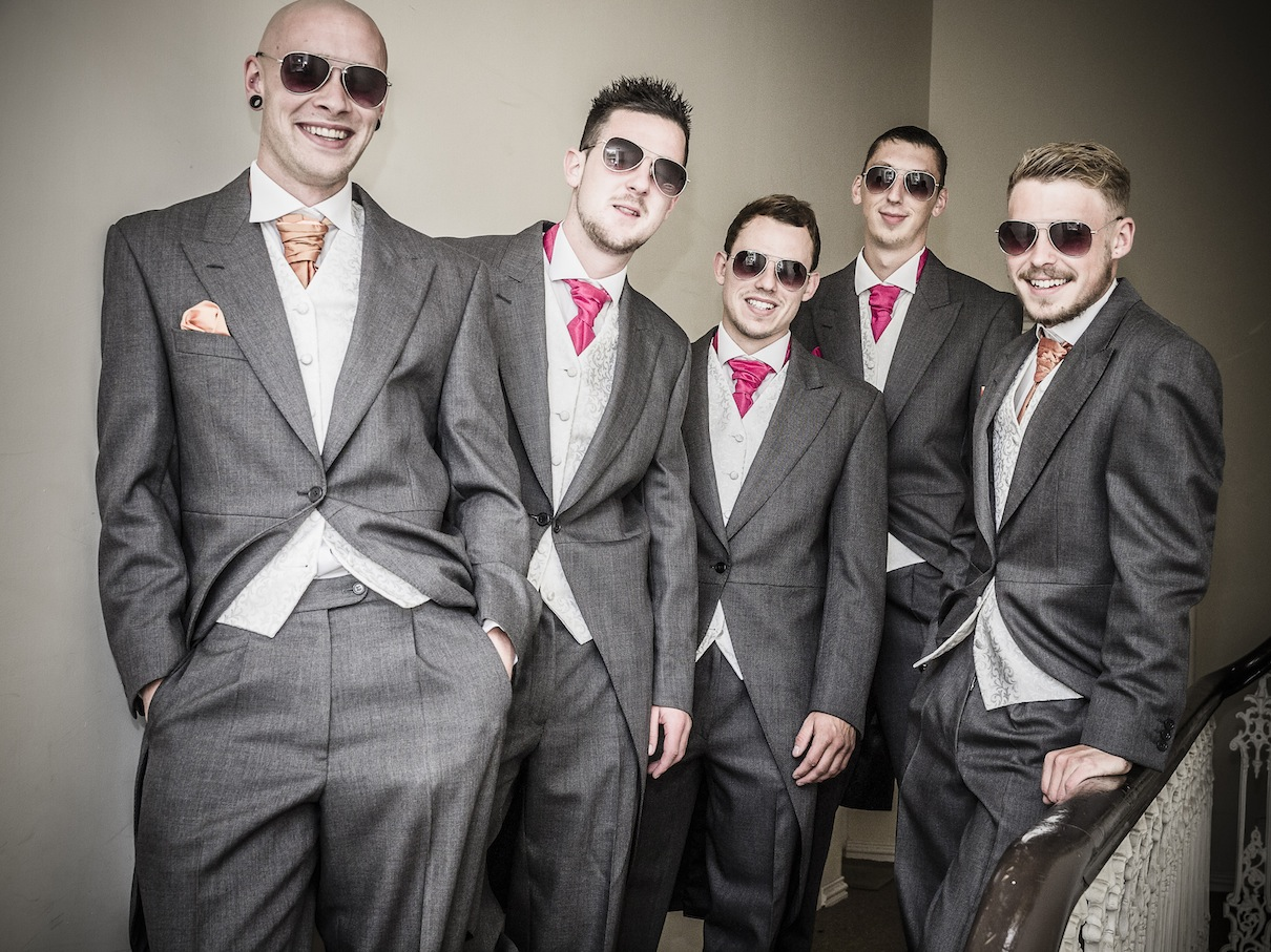 Jon and his Groomsmen pose on the occasion of his wedding to Danni-Jo.