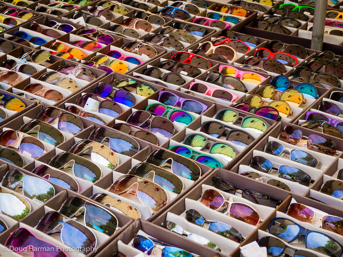 Sunglasses for sale in the South of France.