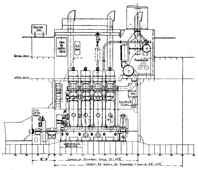 compressed air engine starting procedure of a marine engine
