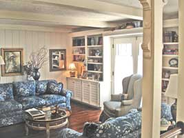 French Country Style Family Room Bookcases