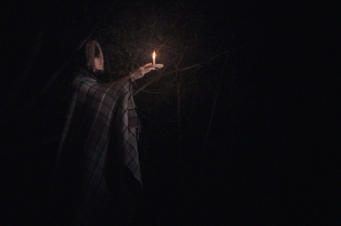 candle at dawn