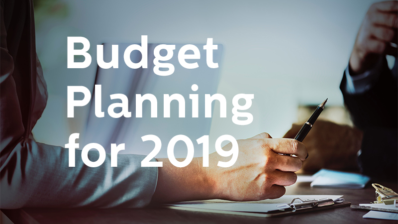 Budget Planning for 2019 Dowitcher Designs