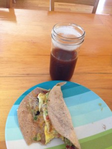 Breakfast Burrito + Iced Coffee