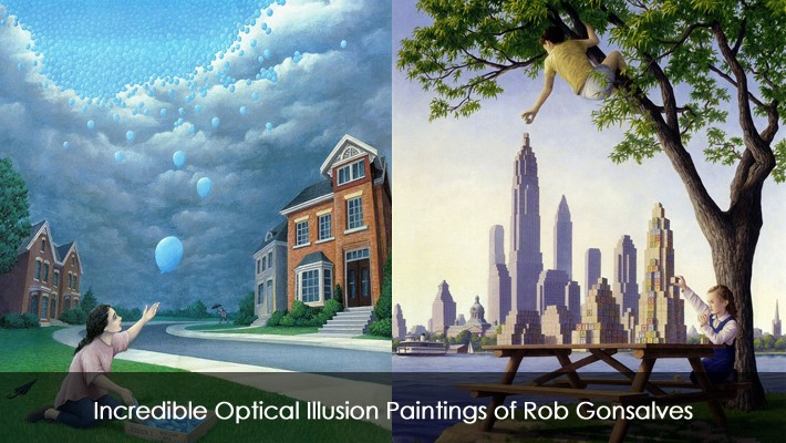 Optical Illusion Wallpaper Hd Incredible Optical Illusion Paintings Of Rob Gonsalves