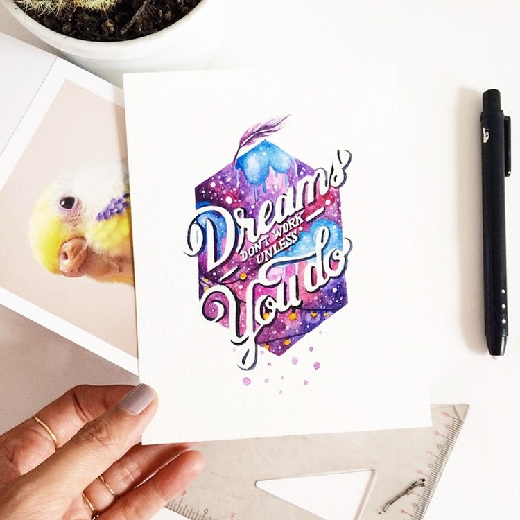 Graphic Designer Quote Wallpaper Watercolor Lettering Quotes By June Digan