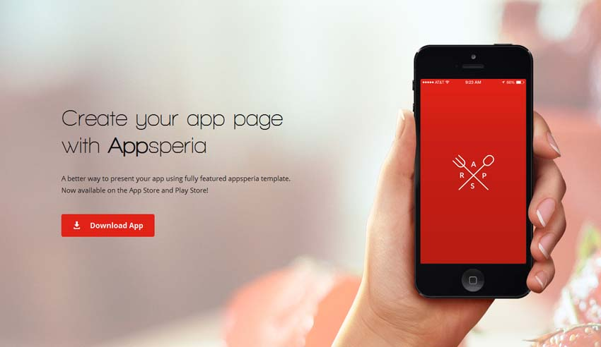 20 Beautiful HTML Landing Page Templates - app landing page template