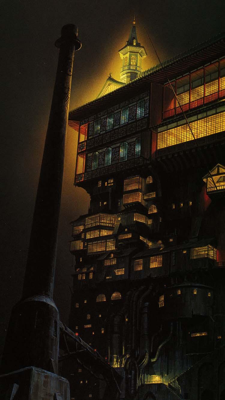 Animated Dual Screen Wallpaper Free Studio Ghibli Smartphone Wallpapers
