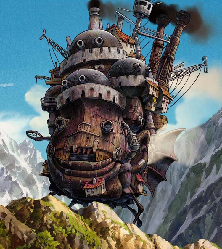 Howls Moving Castle Hd Wallpaper Free Studio Ghibli Smartphone Wallpapers