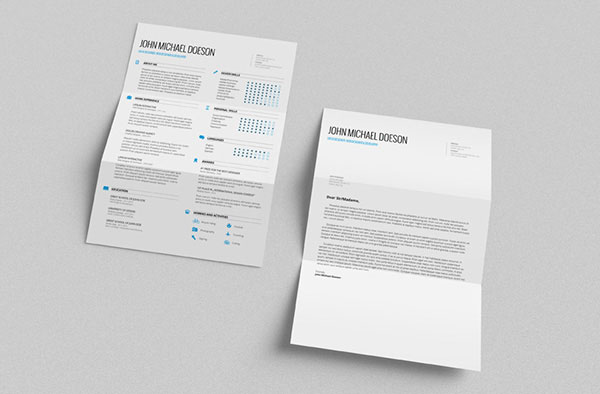 Best Free Clean Resume Templates in PSD, AI and Word Docx Format - Best Resume Template