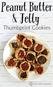 Peanut Butter and Jelly Thumbprint Cookies - Down Home ...