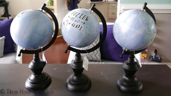 teachers gift personalized globe