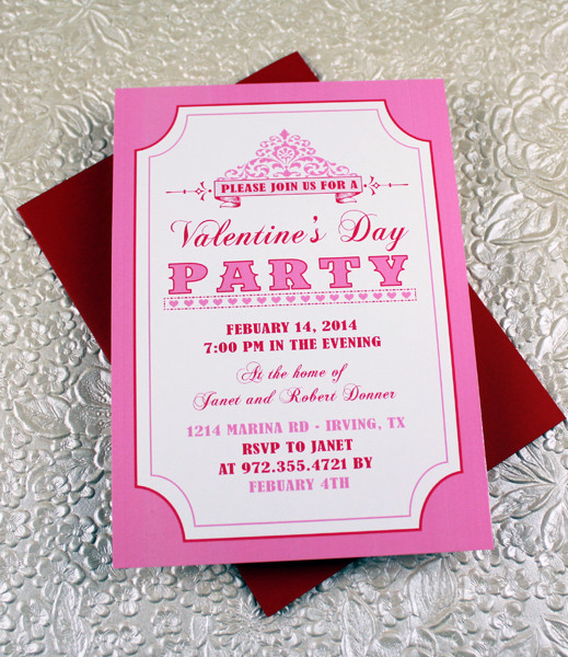 Valentine\u0027s Day Party Invitation Template \u2013 Download  Print - 's day party invitation