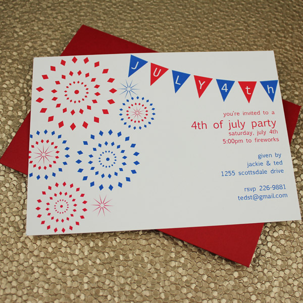 4th of July Party Invitation Template \u2013 Download  Print