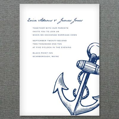 Nautical Anchor Printable Invitation Template \u2013 Download  Print