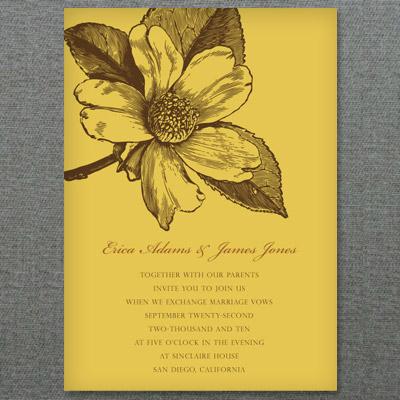 Magnolia Invitation Template \u2013 Personalize in Word \u2013 Download  Print