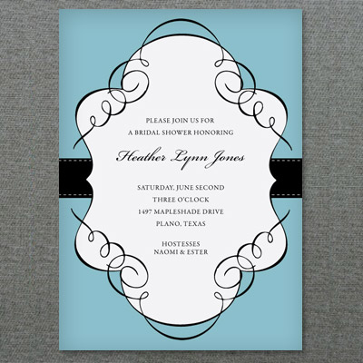 Scroll Frame Bridal Shower Invitation Template \u2013 Download  Print