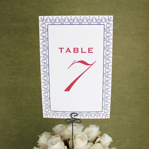 Printable Table Number Cards \u2013 Vintage Design \u2013 Download  Print