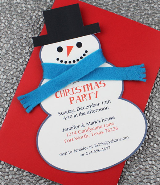 Snowman Christmas Party Invitation Template \u2013 Download  Print