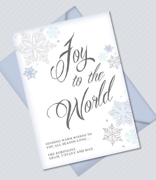 Joy to the World Printable Christmas Card Template \u2013 Download  Print - christmas card printable