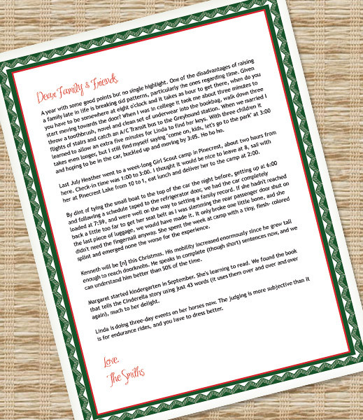 Printable Christmas Letter Paper \u2013 Microsoft Word Template