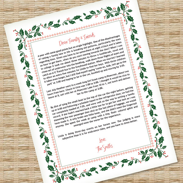 Christmas Letter Template for MS Word \u2013 Download  Print - christmas letterhead templates word